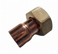 """15mm x 1/2"""" STRAIGHT TAP CONNECTOR END FEED"""