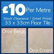 33 x 33cm Floor Tile (Per Metre)