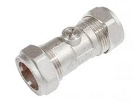 22mm Isolating Valve C x C Chrome