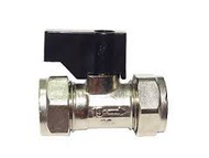 15mm Isolating Valve C x C Chrome c/w Lever