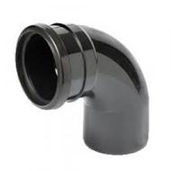 90° Single Socket Bend Black