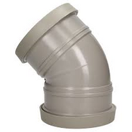 45° Double Socket Bend Grey