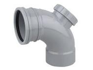 90° Access Bend Single Socket Grey