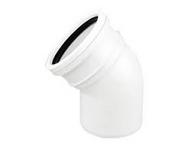 45° Bend Single Socket White