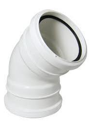 45° Bend Double Socket White