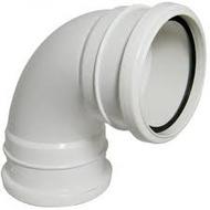 90° Bend Double Socket White