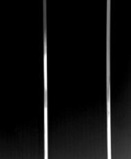 8mm  Midnight Black Silver 2 Strip
