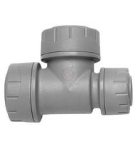222mm x 15mm x 22mm Polyplumb Grey Push-Fit Reducing Tee
