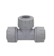 15mm Polyplumb Grey Push-Fit Equal Tee