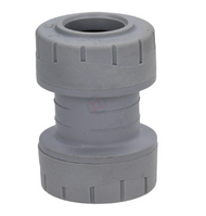 15mm Polyplumb Grey Push-Fit Coupler (pack 20)