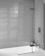8mm Thick Scudo i8 Inswing Bath Screen