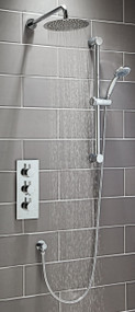 Round Thermostatic Shower Set Four