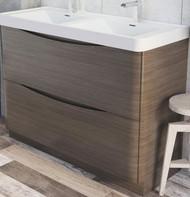 1200mm Envy Floor Standing Vanity Unit - grey elm