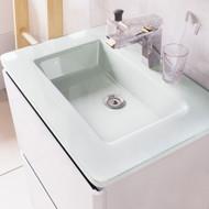 1200mm Opal Glass White Basin
