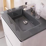 1200mm Grey Glass Basin