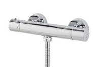Cool Touch Round Thermostatic Shower Bar Valve
