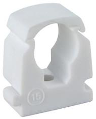 15mm LINK LOCK PIPE CLIP Single White (100)