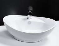 600mm x 390mm Oval Counter Top Basin