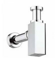 Chrome Square Bottle Trap & Outlet Pipe