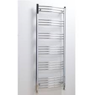 600mm x 1600mm Hayle Curved Towel Radiator