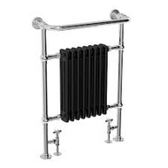 673mm x 230mm x 963mm Traditional Radiator - Chrome & Black