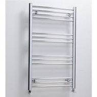 400mm x 1200mm York Flat Towel Radiator - chrome