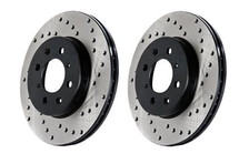 Stop Tech 05-10 Ford Mustang V6/4.0L / GT V8/4.6L Cross Drilled Left Rear Rotor