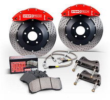 Stoptech 94-04 Mustang (inc Cobra/Mach One) Front BBK Black ST-40 332x32 Zinc Coated Slotted Rotors