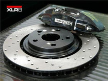 XLR8 Big Brake Kit by STOPTECH (With BLACK ST-41 Calipers, 328X28mm 1 Piece Drilled Discs)