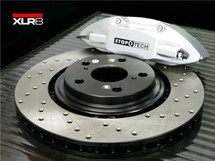 XLR8 Big Brake Kit by STOPTECH (With SILVER ST-41 Calipers, 328X28mm 1 Piece Drilled Discs)