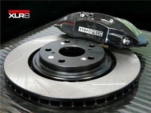 XLR8 Big Brake Kit by STOPTECH (With BLACK ST-41 Calipers, 328X28mm 1 Piece Slotted Discs)