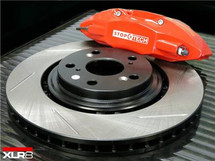 XLR8 Big Brake Kit by STOPTECH (With RED ST-41 Calipers, 328X28mm 1 Piece Slotted Discs)