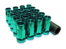 Wheel Mate Muteki SR48 Open End Lug Nuts - Green 12x1.25 48mm