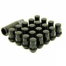 Wheel Mate Muteki SR35 Close End Lug Nuts w/ Lock Set - Black 12x1.25 35mm