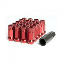 Wheel Mate Muteki SR48 Open End Lug Nuts - Red 12x1.50 48mm