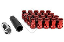Wheel Mate Muteki SR35 Close End Lug Nuts w/ Lock Set - Red 12x1.50 35mm