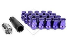 Wheel Mate Muteki SR35 Close End Lug Nuts w/ Lock Set - Purple 12x1.50 35mm