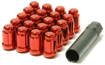 Wheel Mate Muteki Closed End Lug Nuts - Red 12x1.25