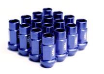 BLOX Racing Street Series Forged Lug Nuts - Blue 12 x 1.25mm - Set of 16