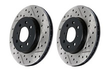 Stop Tech Slotted & Drilled Sport Brake Rotor rear left ONLY