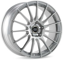 Enkei RS05-RR 18x8.5 50mm Offset 5x100 Bolt Pattern 75.0 Bore Sparkle Silver Wheel