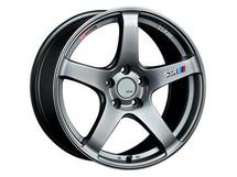 SSR GTV01 18x7.5 5x114.3 43mm Offset Phantom Silver Wheel