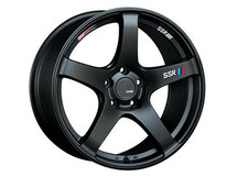 SSR GTV01 18x10.5 5x114.3 15mm Offset Flat Black Wheel