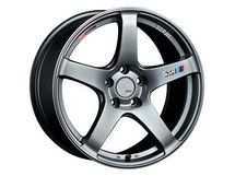 SSR GTV01 16x6.5 4x100 42mm Offset Phantom Silver Wheel