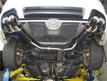 XLR8 Catback Exhaust Resonated 2004-2008 TL QUAD TIPS