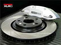 Big Brake Kit by STOPTECH (With SILVER ST-41 Calipers, 328X28mm 1 Piece Slotted Discs) - TL/TSX/ACCORD/CL