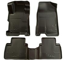 Husky Liners 2012 Honda Civic WeatherBeater Combo Black Floor Liners-Sedan only