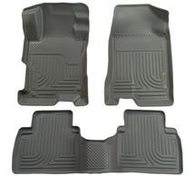 Husky Liners 2012 Honda Civic WeatherBeater Combo Gray Floor Liners-Sedan Only