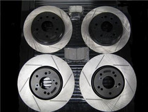 package - STOPTECH/Powerslot Slotted Rotors with STOPTECH Performance Pads - Front and Rear