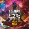 6-Month Subscription: Crystal Layout + Meditation Kit